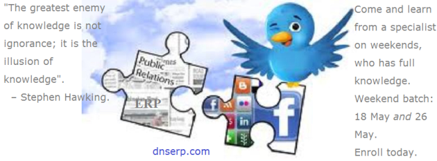 Do CRM using Social Media - 18 and 26 May 2013